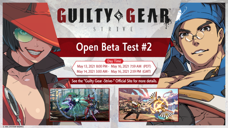 L'Open Beta Test #2 di Guilty Gear -Strive- sarà dal 14 al 16 maggio.